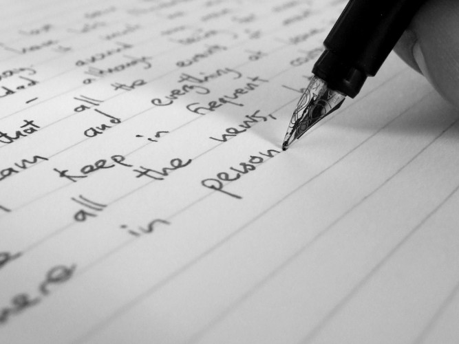 A Letter, Some Writing, and Verbals